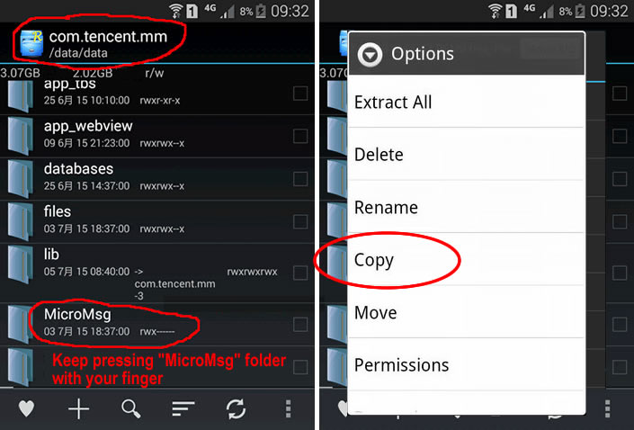 How to Export WeChat Chat History from Android Phone to PC