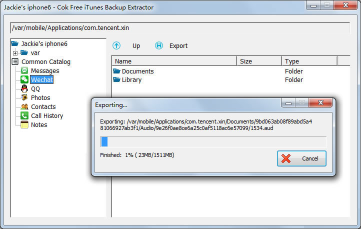 Cok Free iTunes Backup Extractor