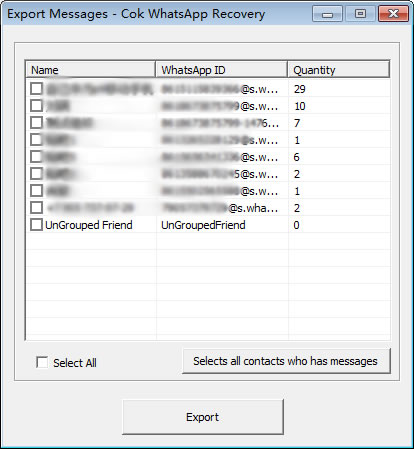 WhatsApp Messages Export to Computer